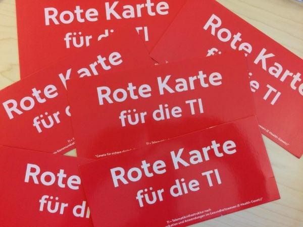 """Meine Antwort auf den Protest """"Rote Karte für die Telematik-Infrastruktur (TI)"""""""