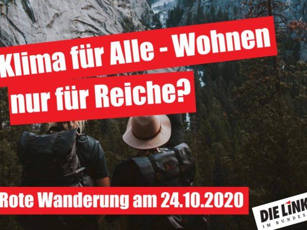 Rote Wanderung mit dem Wahlkreis-Team von Sylvia Gabelmann (MdB, DIE LINKE.)