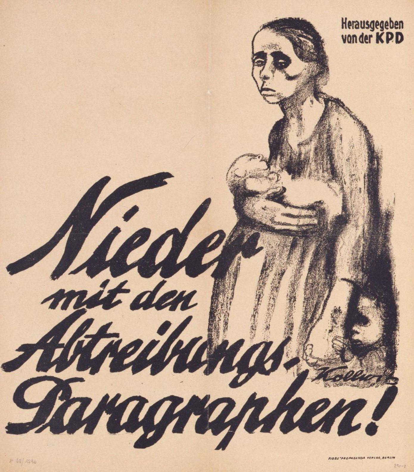 Plakat der Kommunistischen Partei Deutschlands (KPD), Käthe Kollwitz (1867-1945), © Deutsches Historisches Museum, Berlin